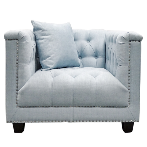 Tristan Arm Chair Powder Blue
