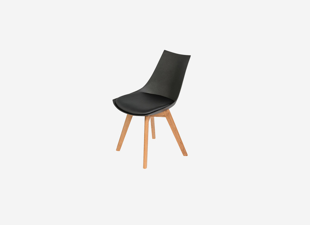 Vita Dining Chair Black with Oak