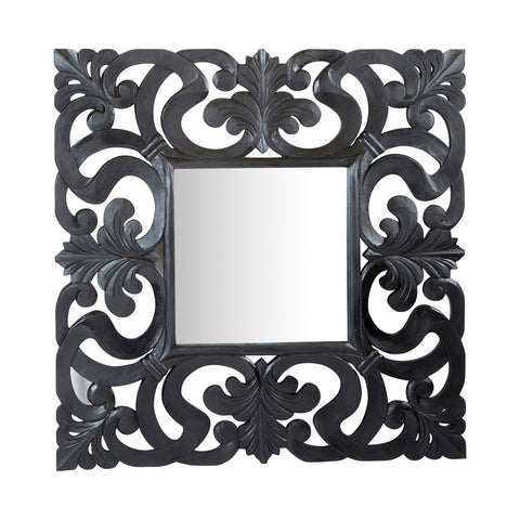 Mercer Square Mirror Black