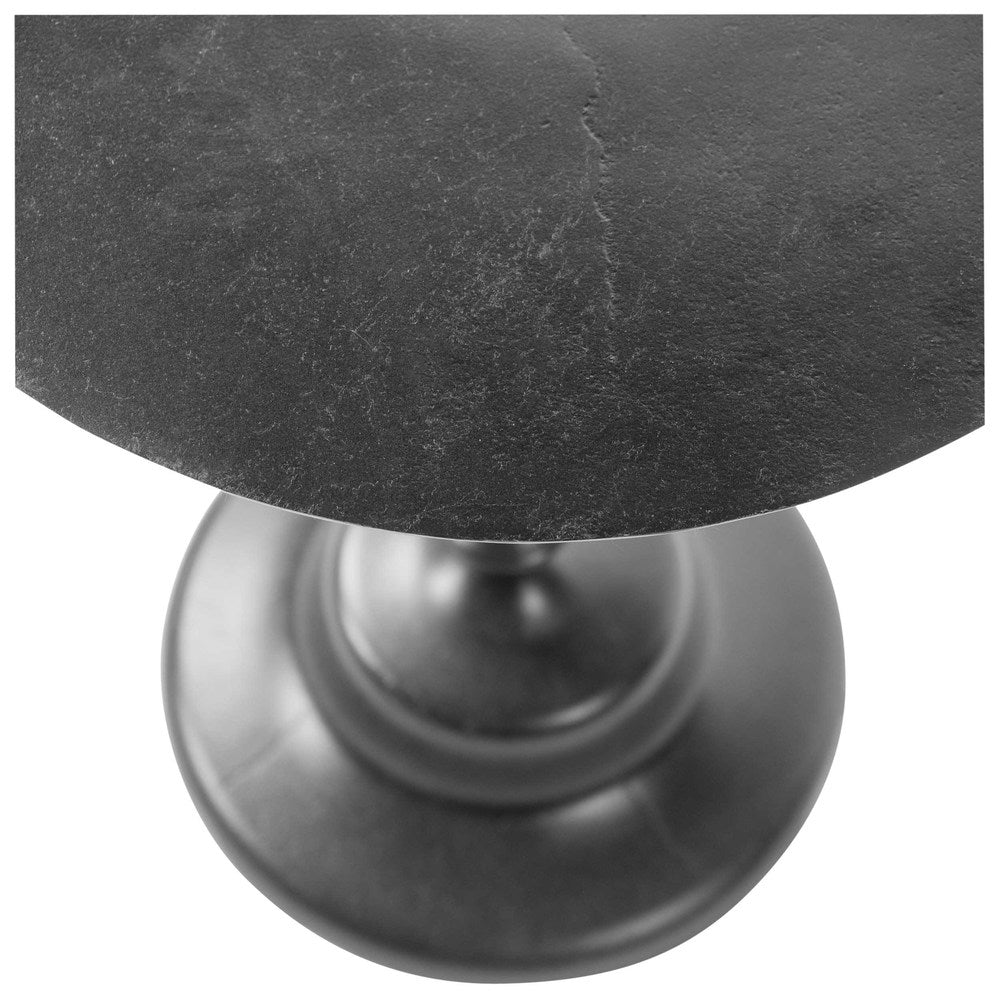 Black Aluminium Side Table Large