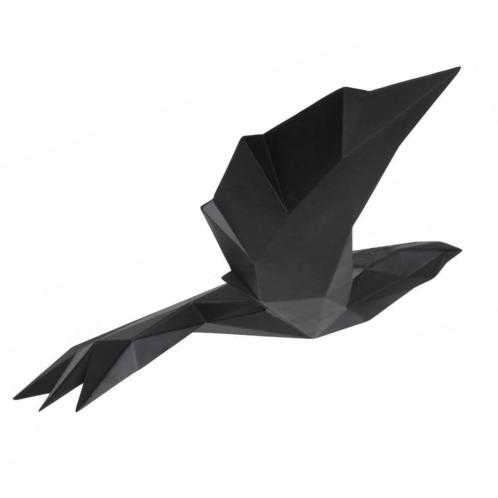 Origami Flying Bird Matt Black