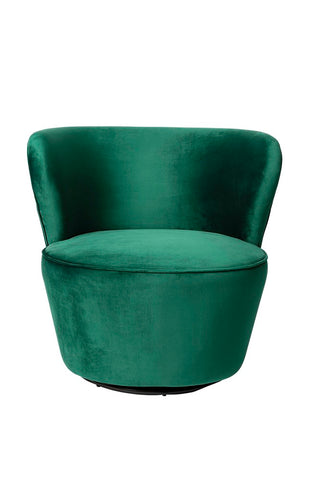 Sia Swivel Chair Emerald Velvet