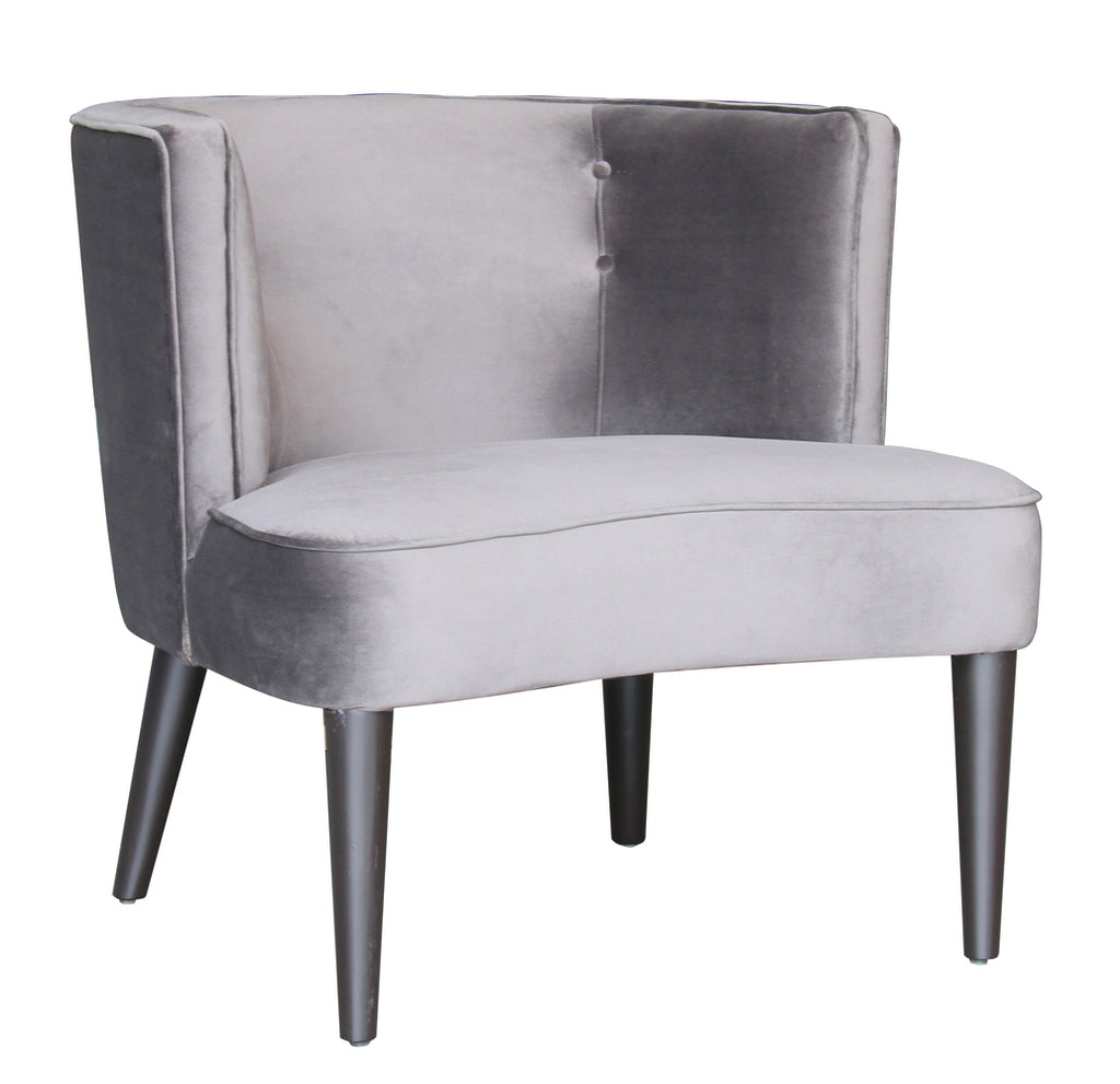 Pittsburgh Chair Dark Grey Velvet