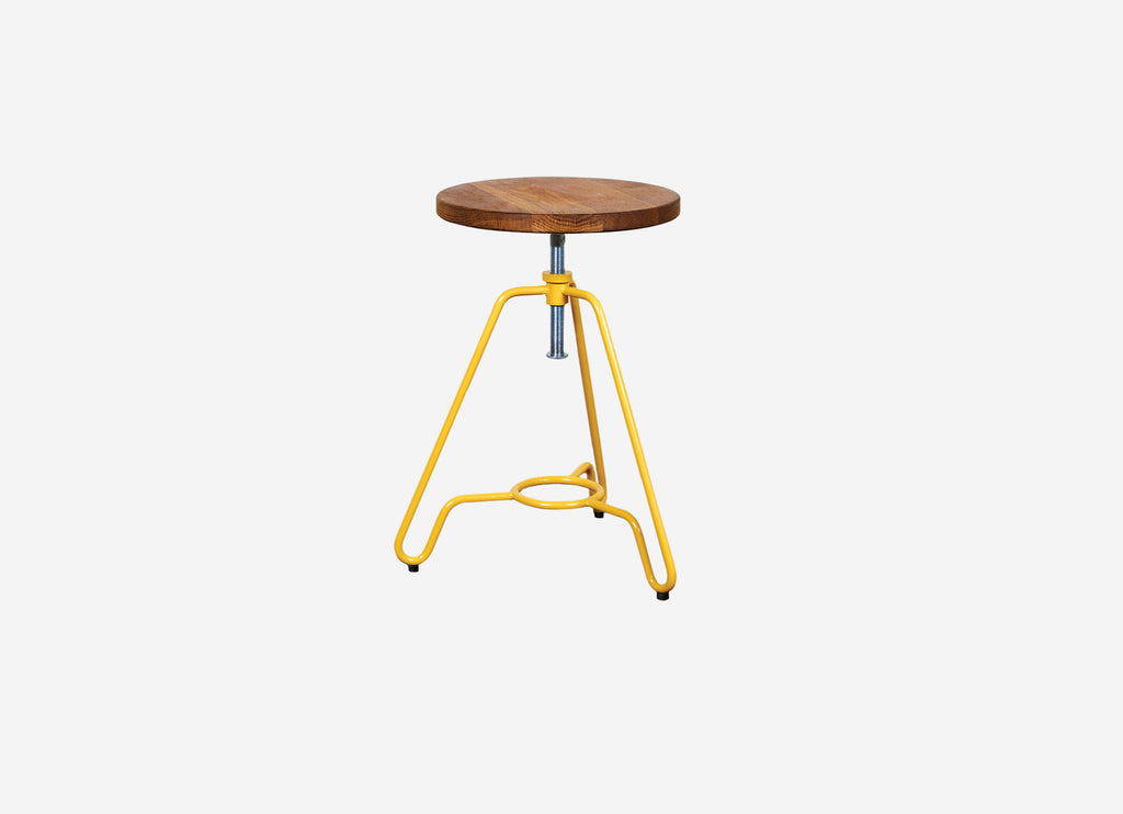 Industrial Low Stool Yellow