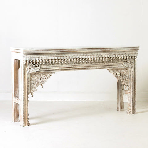 Heritage Indian Console with Marble Top