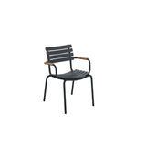 Clips Dining Chair Clay with Bamboo Armrests