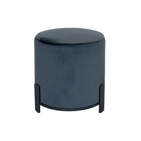 Paxton Ottoman/Low Stool Charcoal with Black Base