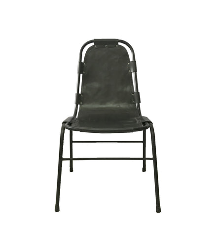 Saddle Dining Chair Grey Blue