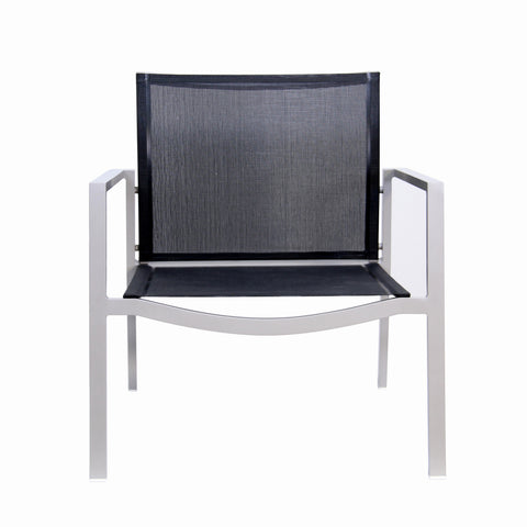 Male Lime Indoor/Outdoor Lounge Chair Black And Taupe