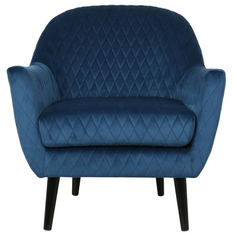 Elsbeth Occasional Chair Navy Velvet