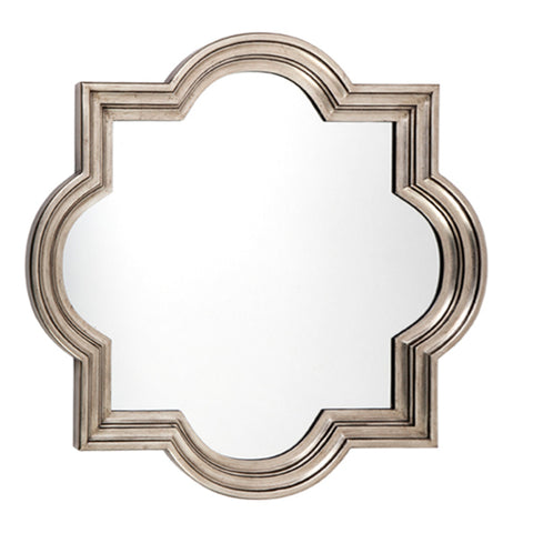 Fez Wall Mirror Antique Silver Small