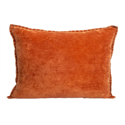 Sabrina Long Velvet Cushion Burnt Orange
