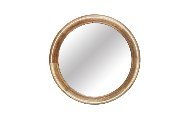 Bahai Wood Mirror with White Inlay
