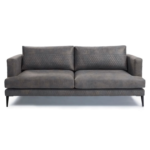 Vincent 3 Seater Sofa Quilted Graphite