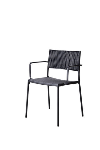 Less Stackable Dining Chair Lava Grey with Graphite Weave