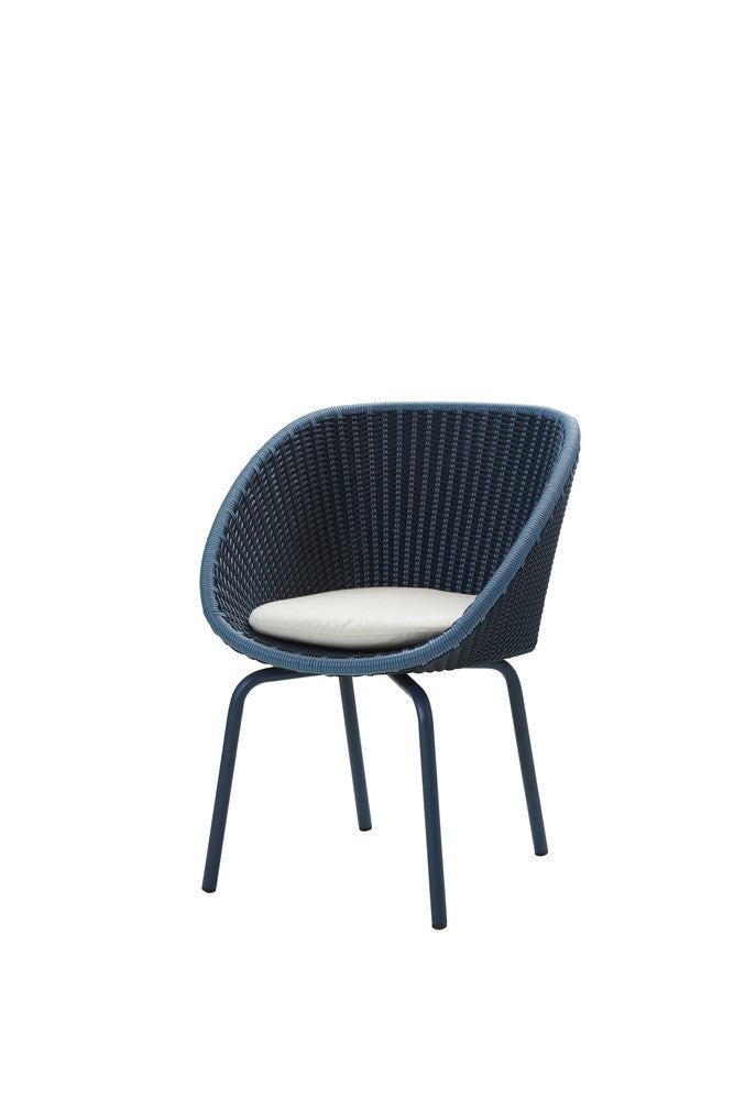 Peacock Dining Chair Midnight with Cushion Options
