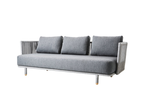 Breeze 2 Seat Sofa White Grey with Cushion Options