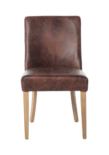 Che Dining Chair Distressed Brown