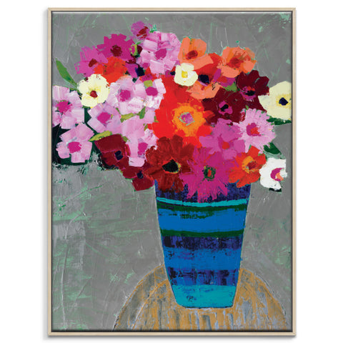 Betty's Blooms Canvas Print with Frame