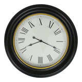 Black with Gold Rim Wall Clock