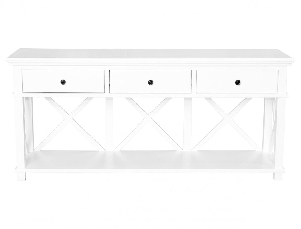 Sorrento 3 Drawer Console White