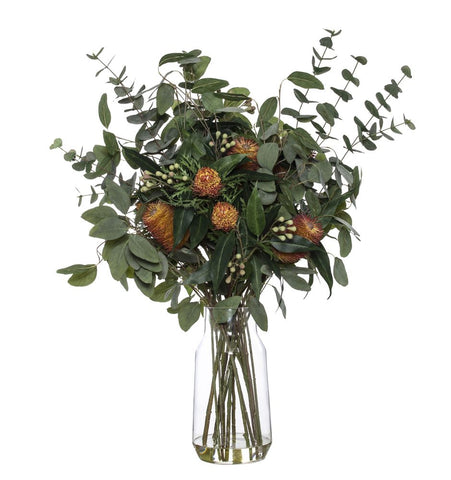 Banksia Eucy Mix in Audrey Vase Red