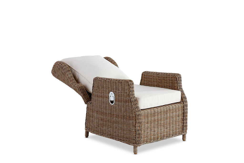 Aegean Outdoor Reclining Chair Natural