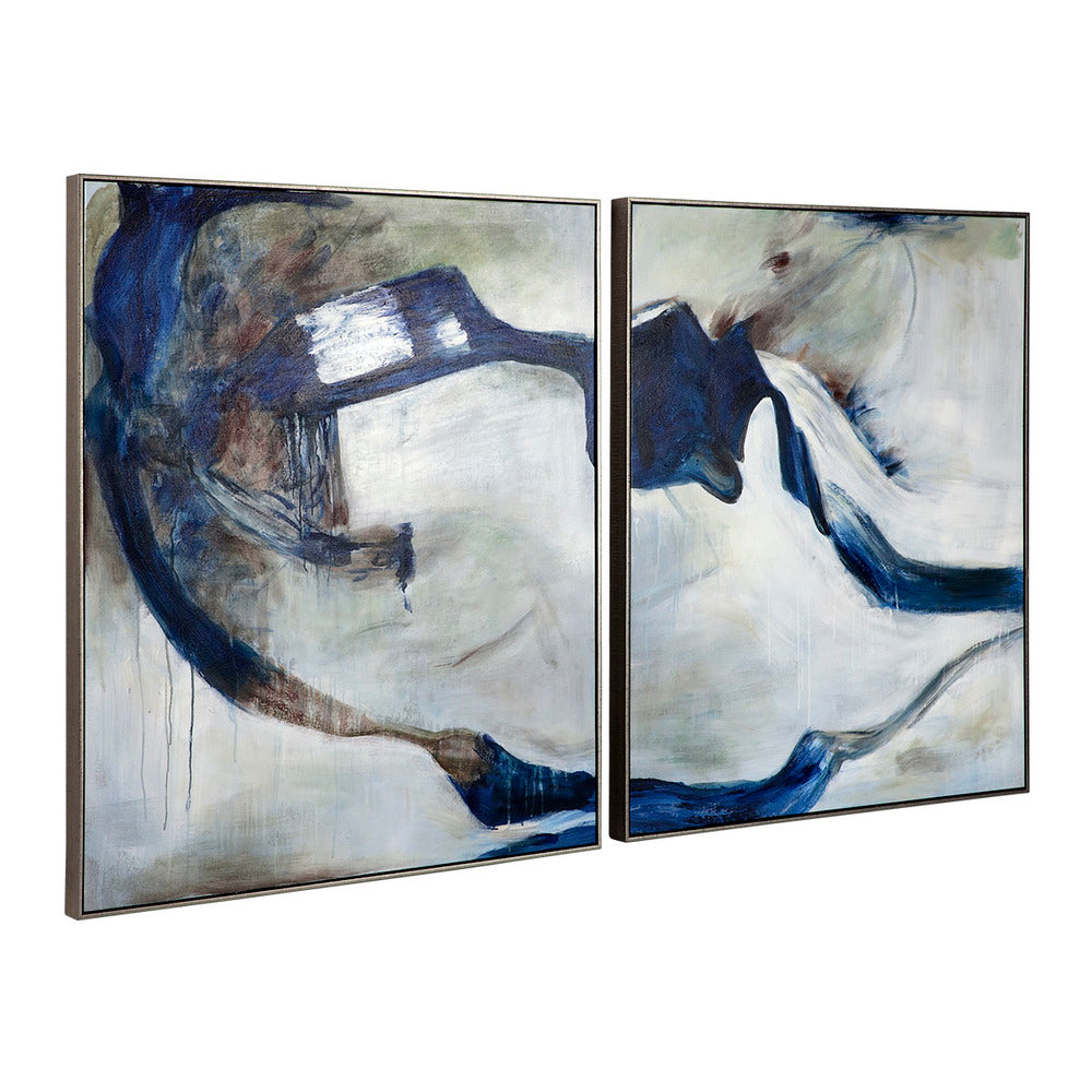 Indigo Deep Framed Canvas Set/2