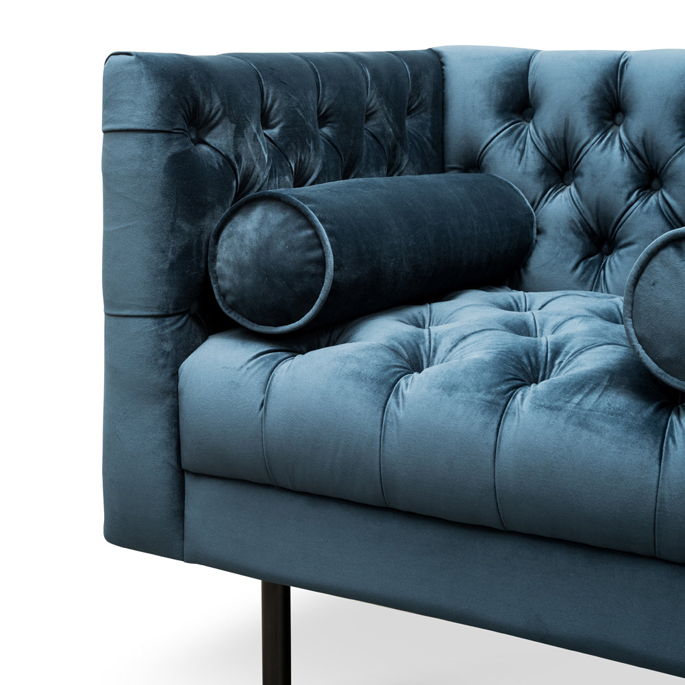 Piccadilly Armchair Navy Blue Velvet