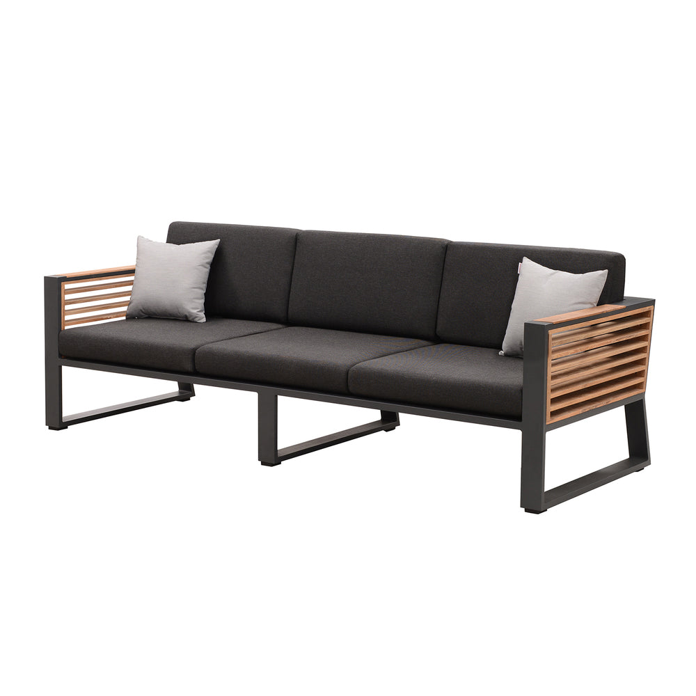Whitsunday 3 Seat Sofa Charcoal