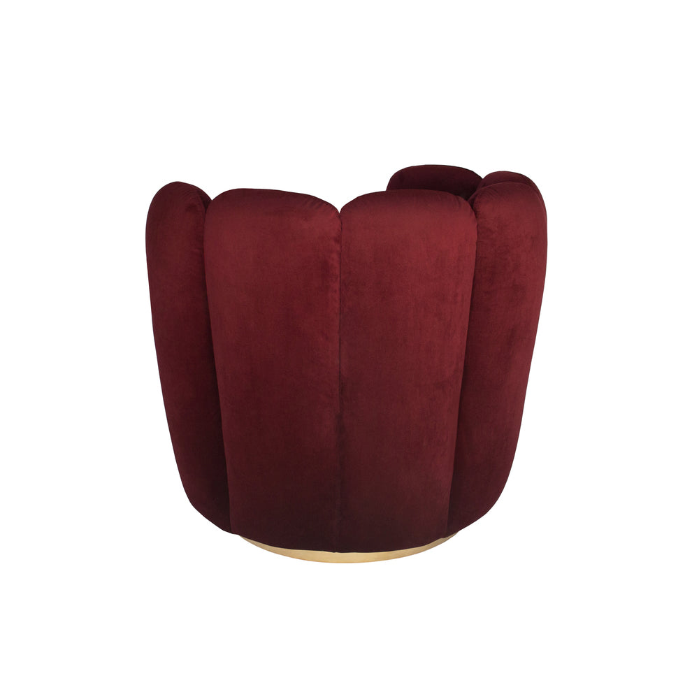 Zurich Swivel Chair Burgundy