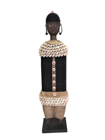 Ndamji Beaded Doll Wide White