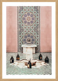 Moroccan Fountain Photographic Print with Frame