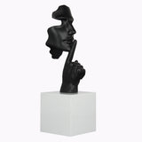 Face and Finger Sculpture Matt Black