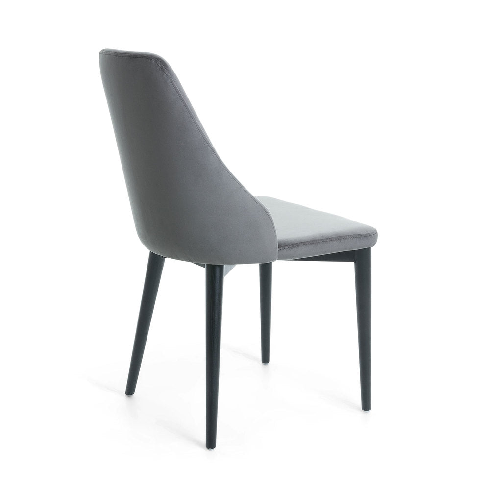 Fox Dining Chair Grey Velvet