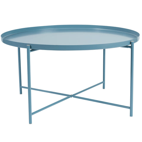 Alto Round Tray Coffee Table Blue
