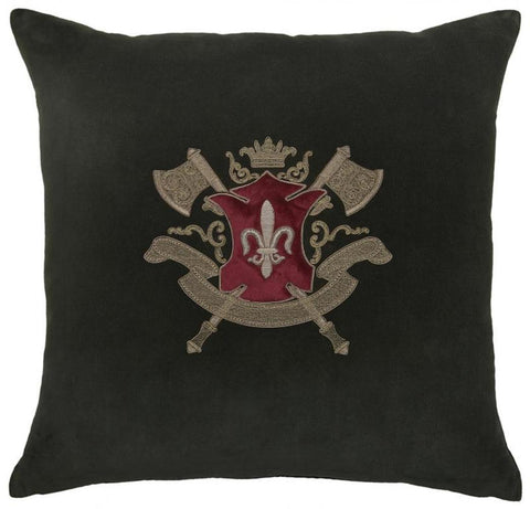 Eagle Crest Cushion with Trim Black