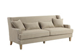 Shoreham 3 Seat Sofa Natural and White