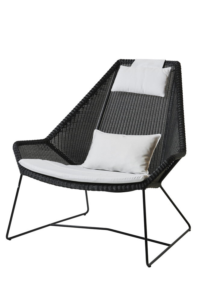 Breeze Highback Chair Black with Cushion Options