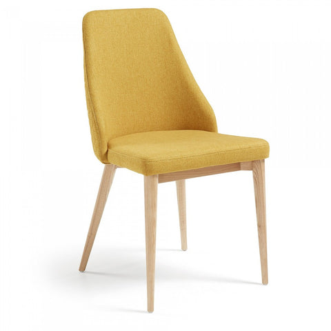 Fox Quilted Dining Chair Mustard