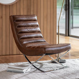 Caldwell Lounger Brown Leather