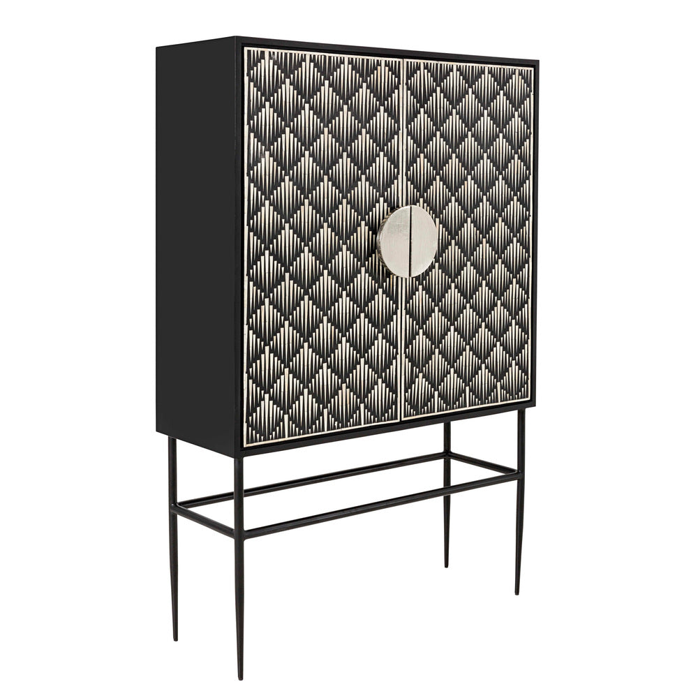 Metropolis Bone Inlay Cabinet