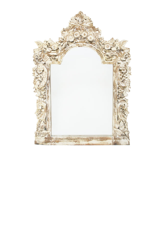 Raja Hand Carved Mirror
