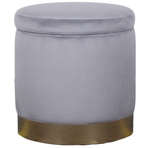 Padstow Ottoman Light Grey Small