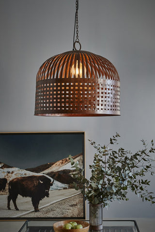 Cage Pendant Rust Large