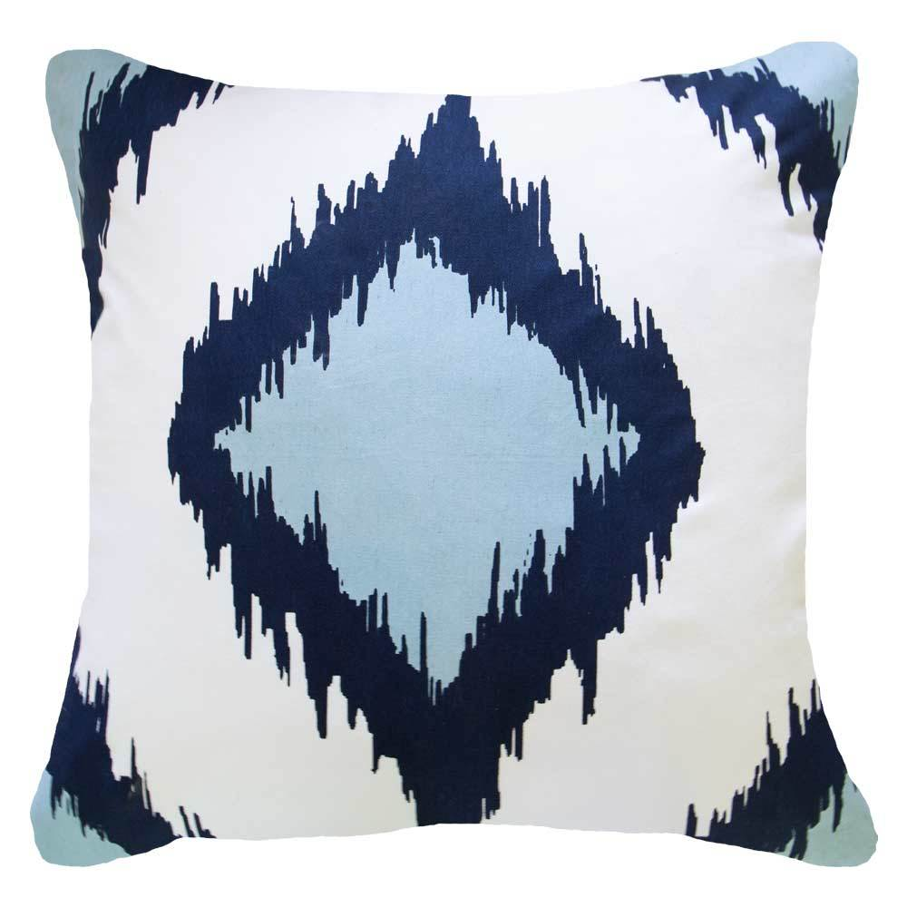 Inner Ikat Solitaire Navy Lounge Cushion