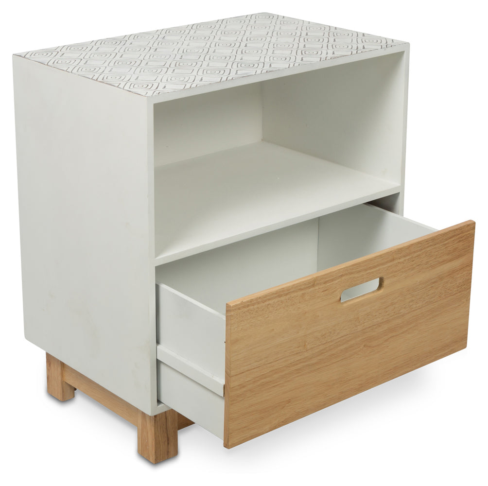 Maui Single Drawer Side Table