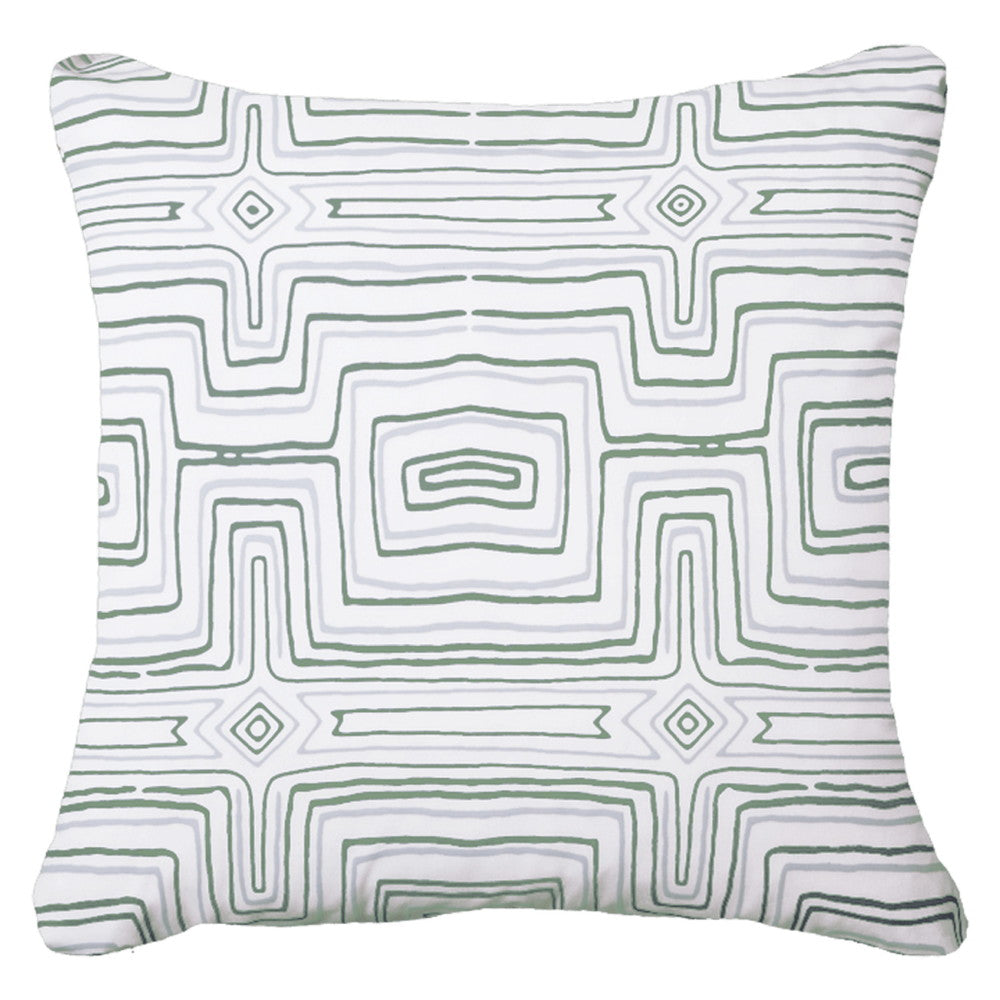 Dreamtime Green Outdoor Cushion
