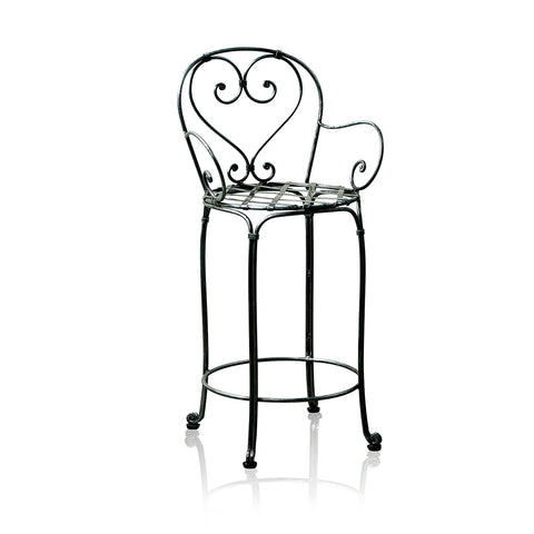 Bistro Wrought Iron Bar Stool