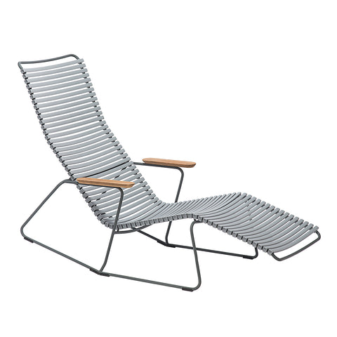 Click Armrest Outdoor Dining Chair Grey